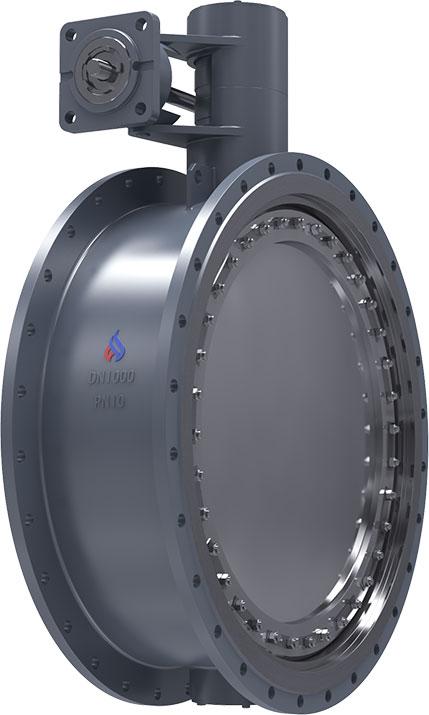 Затвор дисковый обратный поворотный, под электропривод